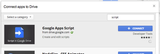 Google Drive Apps overlay