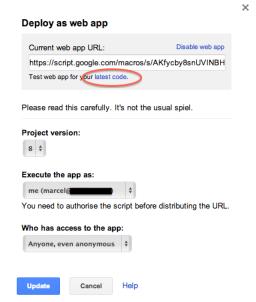 Google App Script Deploy Web App